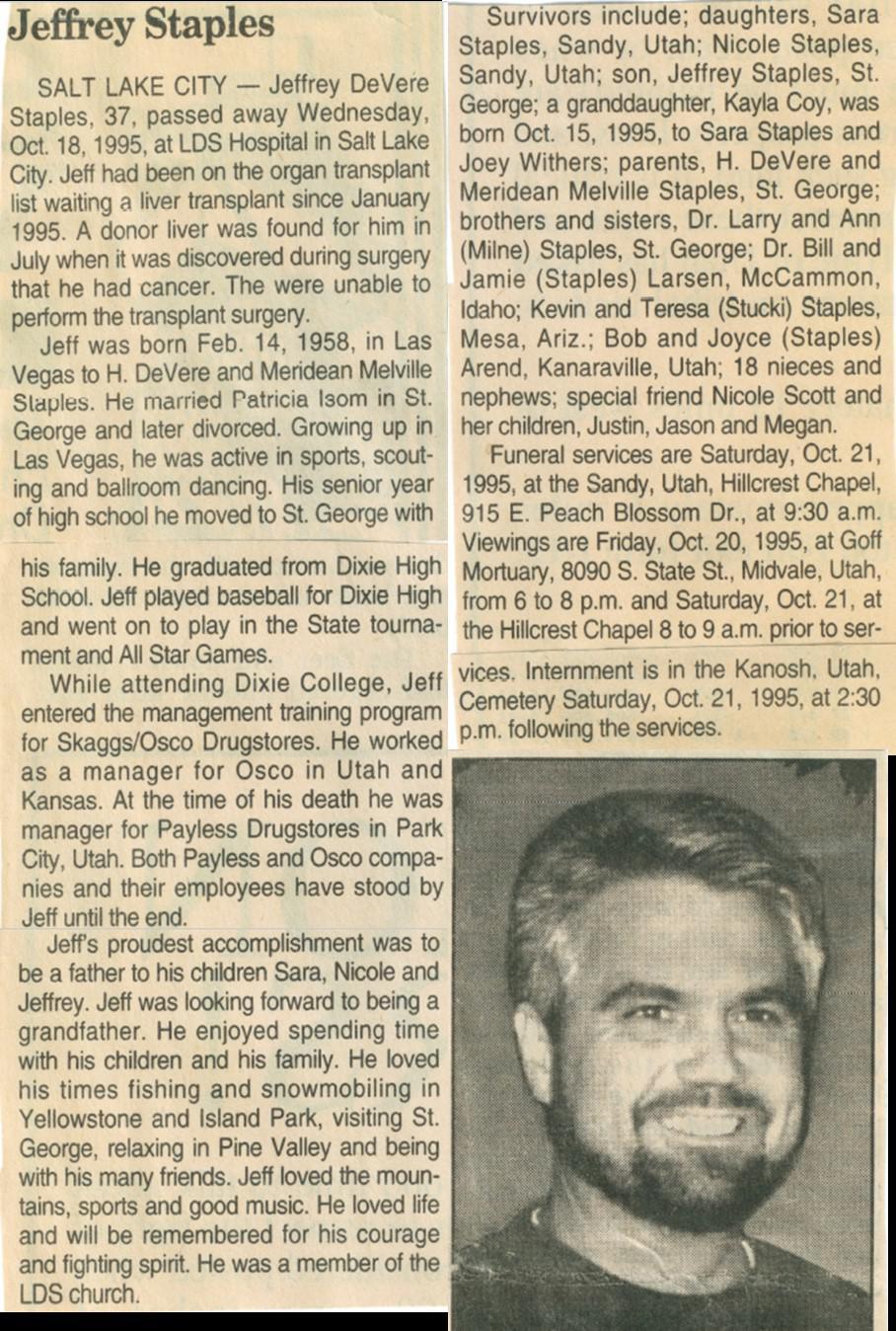 ObituaryOfJeffreyDeVereStaples1995