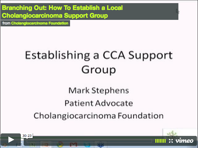 Branching Out: How To Establish a Local Cholangiocarcinoma Support Group