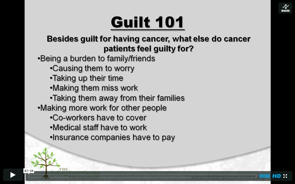 Feeling Guilty for Having Cancer