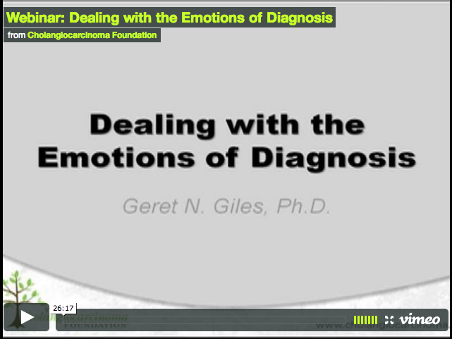Webinar: Dealing with the Emotions of Diagnosis