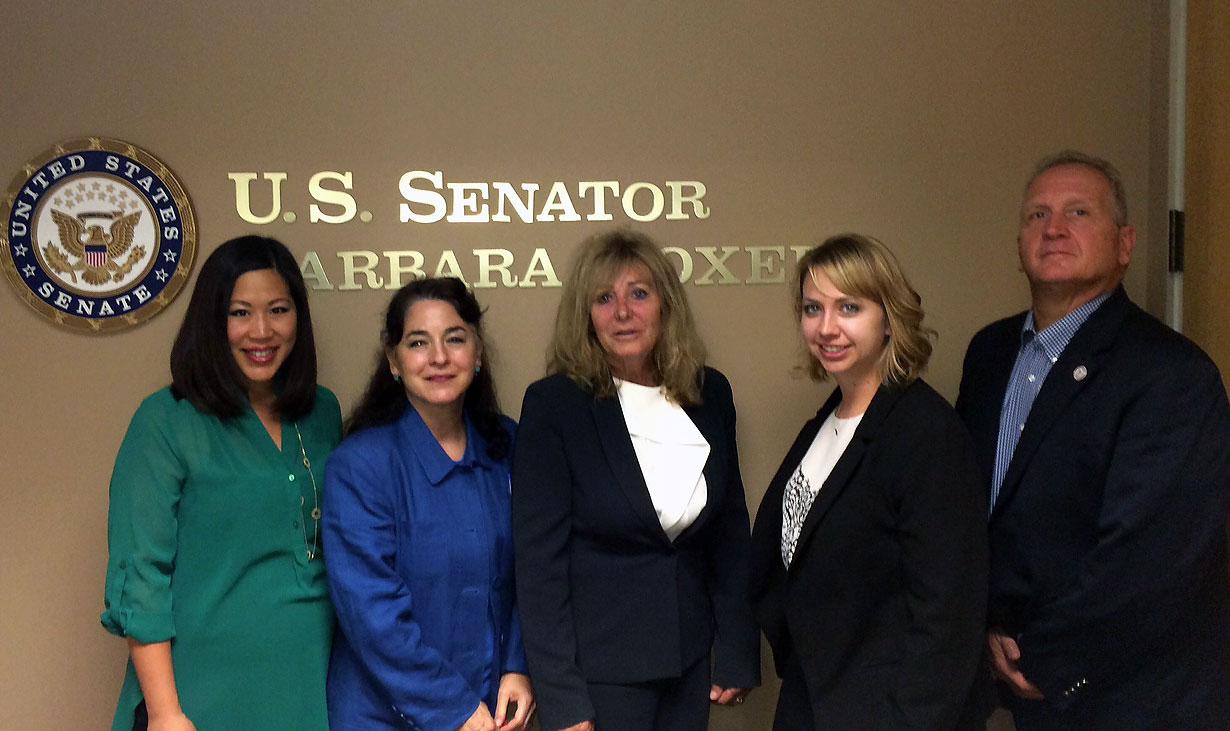 Senator Boxer Meeting Group Photo