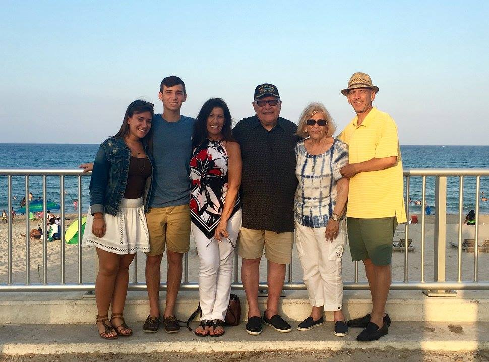 Barry pictured far right with his family on the 4th of July, 2017
