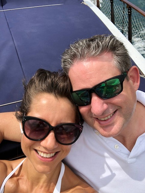 Helen pictured with her husband, Andy.