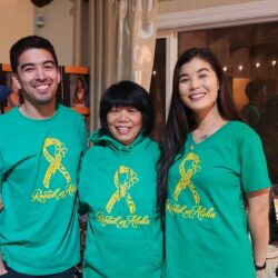 Roz, and her children, Eric and Lauren, spread the aloha love and awareness too.