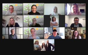 The Fleischer's dropped in on the CCF Weekly Staff Zoom Meeting.